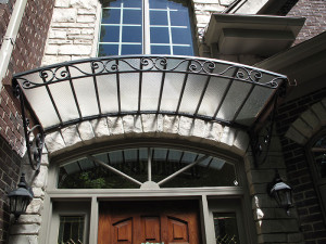 Wrought Iron Awning With Safety Glass Top 6 X 3